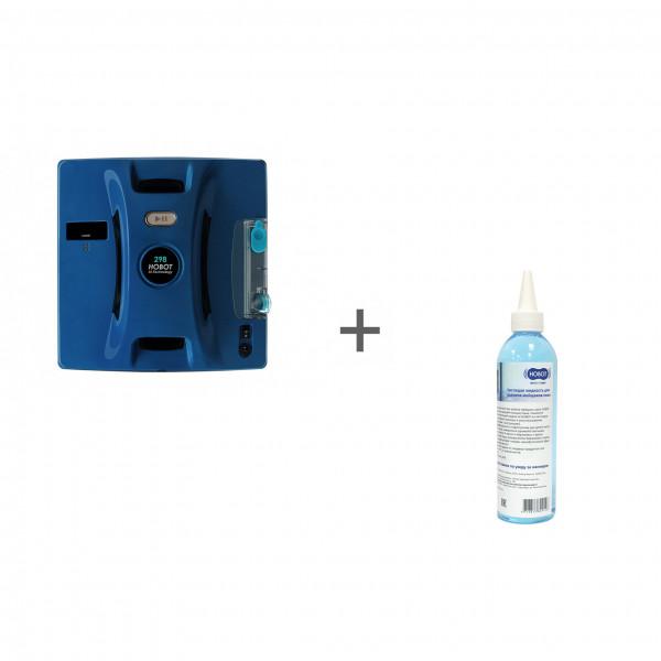 Робот для мойки окон Hobot 298 Ultrasonic + жидкость чистящая 220 мл в подарок!